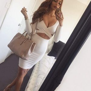 Dresses & Skirts - Womens Sexy Long Sleeve  Clubwear Midi Dress